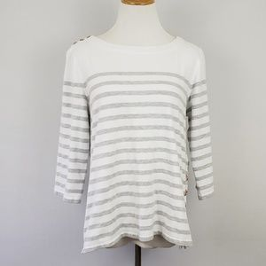 Anthropologie Maeve Stiped Top